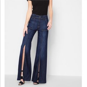 7 For All Mankind Front Slit Flare Jeans